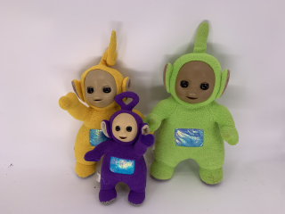 3 peluches Teletubbies - Recyclerie Nord Atlantique