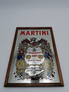 Martini - Vermouth - affiche photo miroir vin vermouth - Tezea