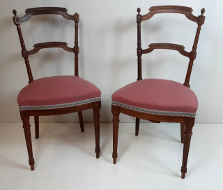 2 chaises Rococo rose - Ecocyclerie des Mauges