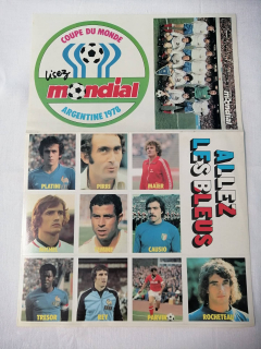 Autocollants Equipe de France de football 1978 - ARTEEC
